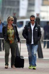 , - 13.10.2012- Sabine Kehm (GER), Michael Schumacher's press officer and Michael Schumacher (GER) Merc