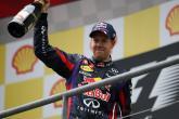 25.08.2013- Race, Sebastian Vettel (GER) Red Bull Racing RB9 race winner