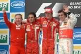 Jean Todt (FRA) Ferrari Sporting Director, Felipe Massa (BRA) Ferrari F2007, Kimi Raikkonen (FIN) Fe
