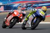 Stoner, Rossi, US MotoGP 2008