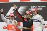 Heikki Kovalainen (FIN) McLaren MP4-23, Sebastian Vettel (GER) Toro Rosso STR03, Robert Kubica (POL)