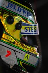 James Courtney (Aust),in Pits with helmet on #18 Jim Beam DJR FG Ford Races 18 V8 Supercars Sup