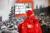 Sebastian Vettel (GER) Ferrari in the FIA Press Conference.