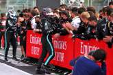 Race winner Lewis Hamilton (GBR) Mercedes AMG F1 celebrates with the team in parc ferme.
