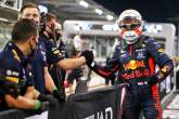 Max Verstappen (NLD) Red Bull Racing celebrates his pole position in qualifying parc ferme with the team.