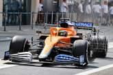 Daniel Ricciardo (AUS) McLaren MCL35M leaves the pits.
