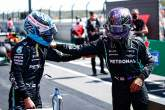 (L to R): Valtteri Bottas (FIN) Mercedes AMG F1 celebrates his pole position in qualifying parc ferme with second placed team mate Lewis Hamilton (GBR) Mercedes AMG F1.