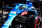 Fernando Alonso (ESP) Alpine F1 Team A521 leaves the pits.