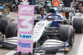 Third placed George Russell (GBR) Williams Racing FW43B in qualifying parc ferme.