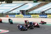 Alex Rins leads, Jack Miller crashes MotoGP, race, Portuguese MotoGP. 18 April 2021