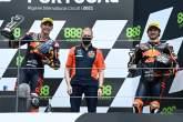 Raul Fernandez, Remy Gardner podium, Moto2 race, Portuguese MotoGP, 18 April 2021