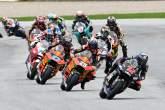Inicio de carrera de Marco Bezzecchi, carrera de Moto2, Styria MotoGP, 8 de agosto de 2021