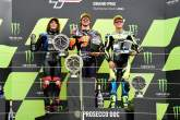 Marco Bezzecchi, Remy Gardner, Jorge Navarro, Moto2 race, British MotoGP 29 August 2021