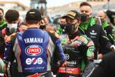 Garrett Gerloff and Jonathan Rea after race incident, Aragon WorldSBK Race2, 2021