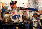 Johnson rolls to Vegas glory on four-tyre call