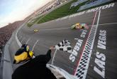 Kyle Busch takes the chequer to win 'at home' in Las Vegas