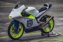 The 2020 Husqvarna Moto3 machine