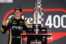 Justin Haley在Daytona赢得了令人惊叹的焦炭零糖400获胜
