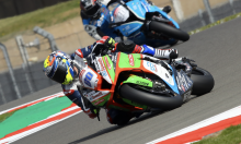 Ex-MotoGP rider Barbera shines on impressive BSB debut