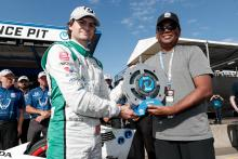 Colton Herta nips Will Power for Portland Pole