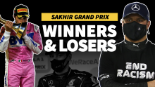Perez goes last to first, heartbreak for Russell - F1 Sakhir GP Winners & Losers