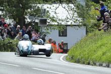Birchall兄弟风暴第一曼岛TT Sidecar赛跑