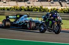 Behind the scenes of the Rossi, Hamilton MotoGP, F1 swap