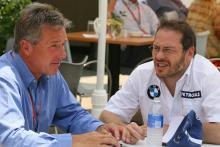29.06.2006 Indianapolis, USA, Craig Pollock (GBR, Manager of Jacques Villeneuve) with Jacques Villen