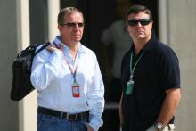Martin Brundle and Mark Blundell at the USGP