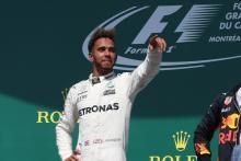11.06.2017, Podium, winner Lewis Hamilton (GBR) Mercedes AMG F1 W08