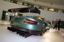 Rear view of the Aston Martin Racing DBR9 at the car`s official launch.