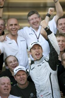 Jenson Button (GBR) Brawn BGP001 Wins, Turkish F1, Istanbul Park, 5th-7th June, 2009