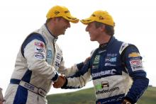 Mat Jackson (GBR) RML Chevrolet Lacetti  and Jason Plato (GBR) - RML Chevrolet Lacetti