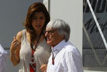 Saturday, Bernie Ecclestone (GBR), President and CEO of Formula One Management and his girlfriend F