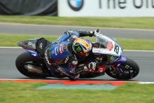 Brookes leads at Silverstone as Haslam suffers huge off