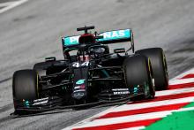 Mercedes heads Austrian GP FP2 as Racing Point shines, Red Bull spins