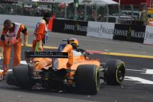 Alonso experienced back pain after Belgian GP crash