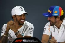 "Hamilton grateful for ""pretty amazing"" message from Alonso"
