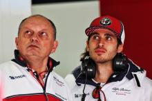 "Vasseur ""not worried"" about struggling Giovinazzi's F1 form"