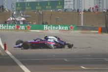 Albon ruled out of China qualifying after FP3 crash