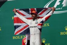 Hamilton not thinking of numbers game despite strong title odds