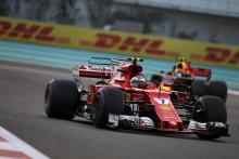 Verstappen underwhelmed by F1 finale stuck behind Raikkonen