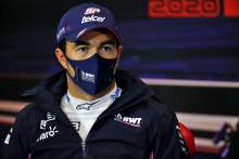 Sergio Perez (MEX) Racing Point F1 Team in the post qualifying FIA Press Conference.