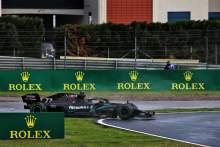 Valtteri Bottas (FIN) Mercedes AMG F1 W11 spins.
