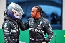 Race winner Lewis Hamilton (GBR) Mercedes AMG F1 celebrates winning his seventh World Championship in parc ferme with team mate Valtteri Bottas (FIN) Mercedes AMG F1.