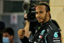 Race winner Lewis Hamilton (GBR) Mercedes AMG F1 celebrates in parc ferme at the end of the race.
