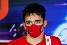 Charles Leclerc (MON) Ferrari in the FIA Press Conference.