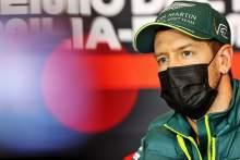 Sebastian Vettel (GER) Aston Martin F1 Team in the FIA Press Conference.