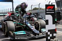 Hamilton passes Verstappen and Bottas for F1 Portuguese GP win