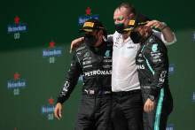 1st place Lewis Hamilton (GBR) Mercedes AMG F1 W12, 3rd place Valtteri Bottas (FIN) Mercedes AMG F1.